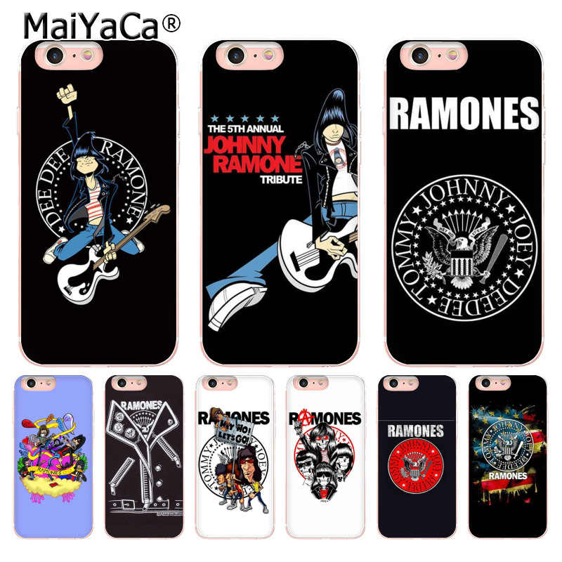 Maiyaca Ramones Band Terbaru Fashion Mewah Ponsel Case untuk Apple iPhone 11 Pro 8 7 66S Plus X 5S se XR XS X MAX Mobile Cover