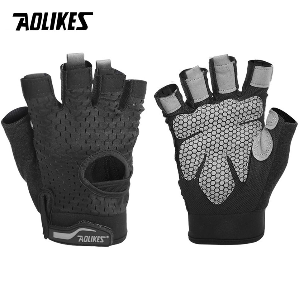 Women Work Out Gloves Weight Lifting Gym Sport Exercise: AOLIKES Professional Gym Gloves Exercise Gloves Women Men