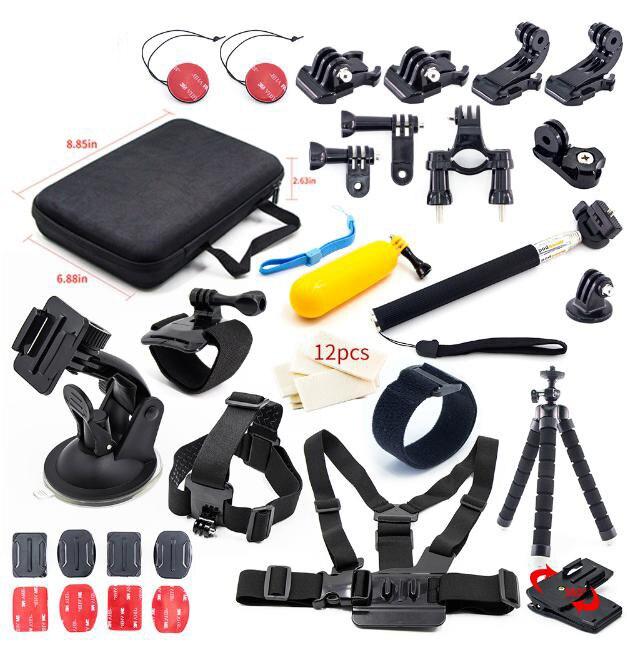 Pour Go Pro Hero 7 6 5 4 3 accessoires Kit boîtier trépied montage monopode Session SJCAM GoPro SJ6 SJ7 SJCAM Xiaomi yi 4 k caméra d'action