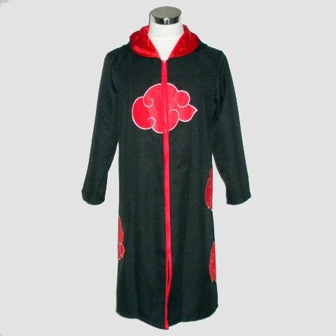 drop pp role cosplay costume Naruto Akatsuki Cloak Sasuke Itachi Wind Dust Coat Orochimaru uchiha madara Cosplay Costume s-2xl