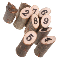 2019 NEW 10pcs 1 10 Log shape Wood Wedding Table Numbers Rack Wooden Party Direction Reception Seat Signs