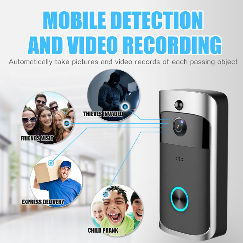 Купить с кэшбэком Smart Security Wireless WiFi Doorbell With Camera Door Phone  Video Doorbell Intercom Remote Home Monitoring IR Alarm Camera