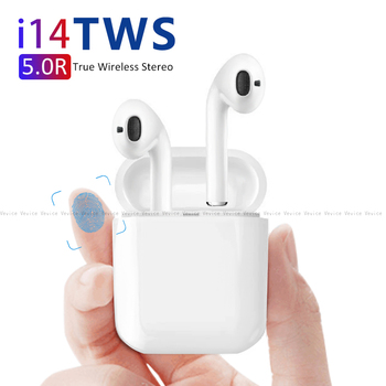 New i14 tws Touch Control Wireless Earphone tws i14 Portable Bluetooth 5.0 Earbuds Mini Headphones For IOS Android Smartphone