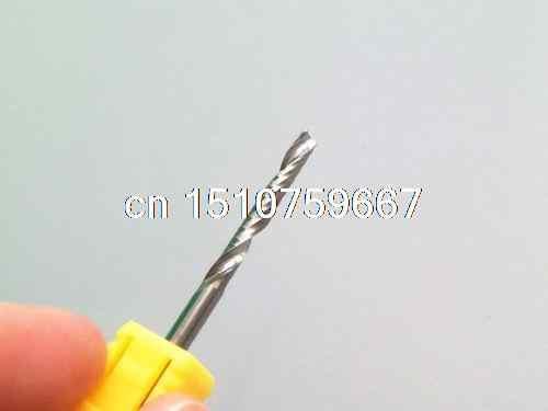 جديد شفرة واحدة قطع الألومنيوم واحد الناي CNC بت التوجيه 25 ملليمتر 3.175
