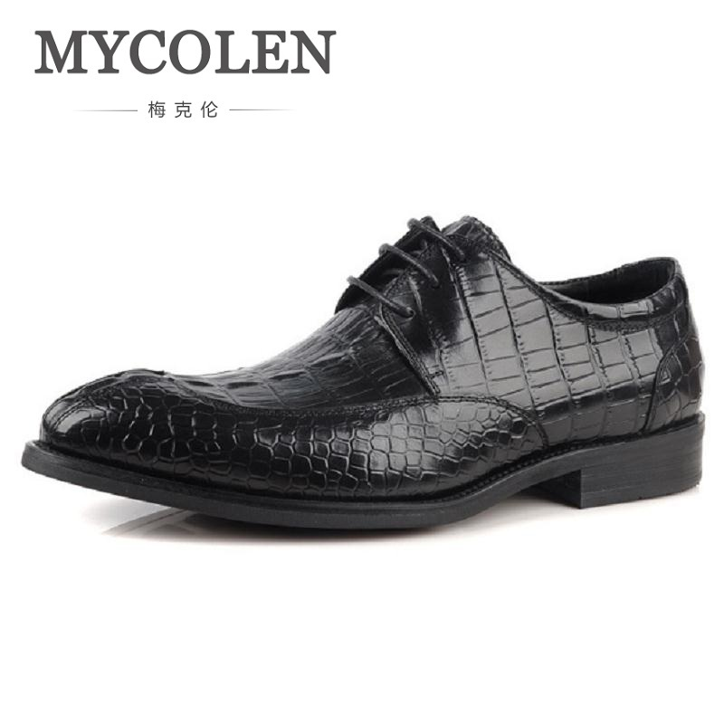 MYCOLEN New Spring Fashion Business Men Shoes Leather High Quality Soft Casual Breathable Men's Heren Schoenen Echt Leer 2016 new high quality genuine leather men business casual shoes men woven breathable hole gentleman shoes brand taima 40 45