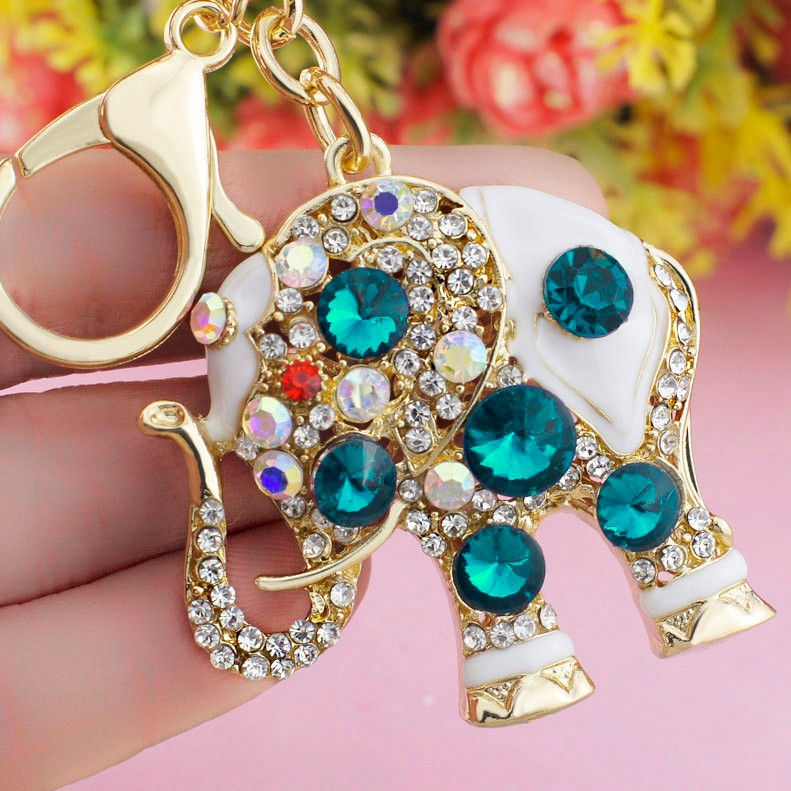 Amazing Elephant Crystal Bag Keychains