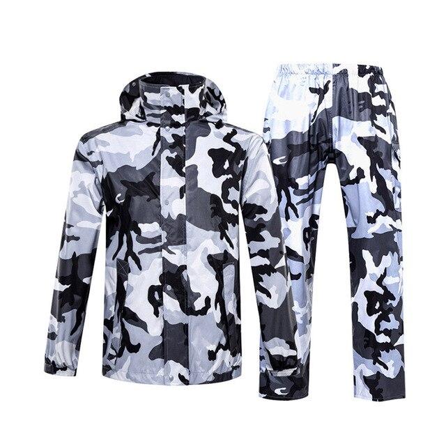 Chubasquero de camuflaje para hombre y mujer, ropa impermeable para exteriores, para pesca, Camping, lluvia