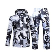 Hot Camouflage Raincoat Women/Men Suit Rain Coat Outdoor Hood Womens Motorcycle Fishing Camping Gear Mens
