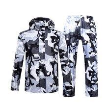 Imperméable de Camouflage pour homme et femme, costume de pluie dextérieur pour moto, vêtement de pêche, manteau de pluie pour homme