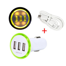 3.1A LED USB 3 Port Adapter Socket Car Charger