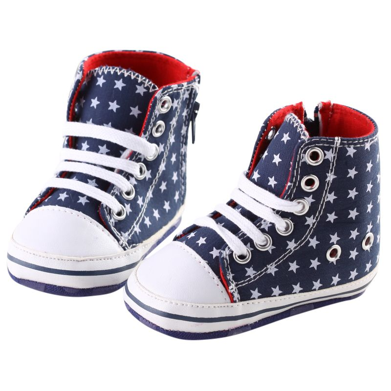Fashion Baby Boys Canvas Shoes Kids Girls Casual Faillette Anti-skid Lace Up Fit To First Walkers Shoes