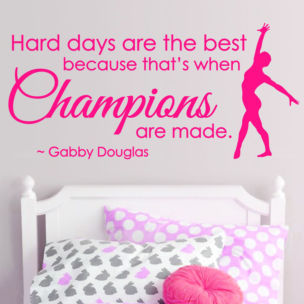 Gymnastics Dance GIRLS SPORT Vinyl Wall Decor,CHAMPIONS Saying Wall Stickers,inspiration  Quote Mural Decal For Home Decor In Wall Stickers From Home ...