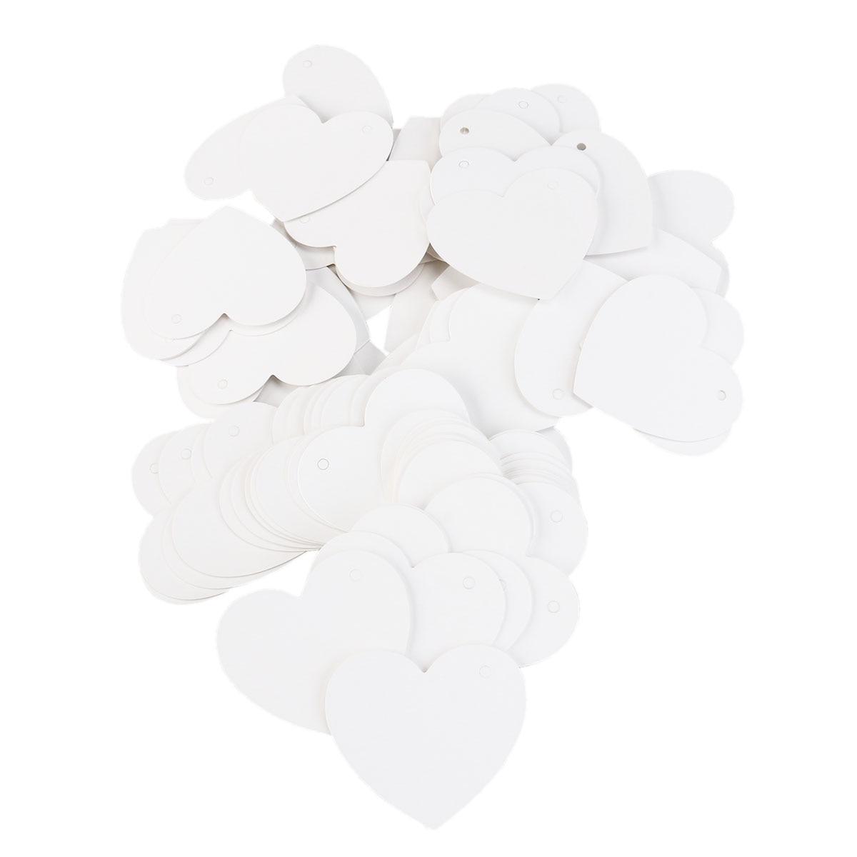 100 pcs Cartão de Papel Em Forma De Coração Dos Namorados/Casamento/Desejo Árvore Tags