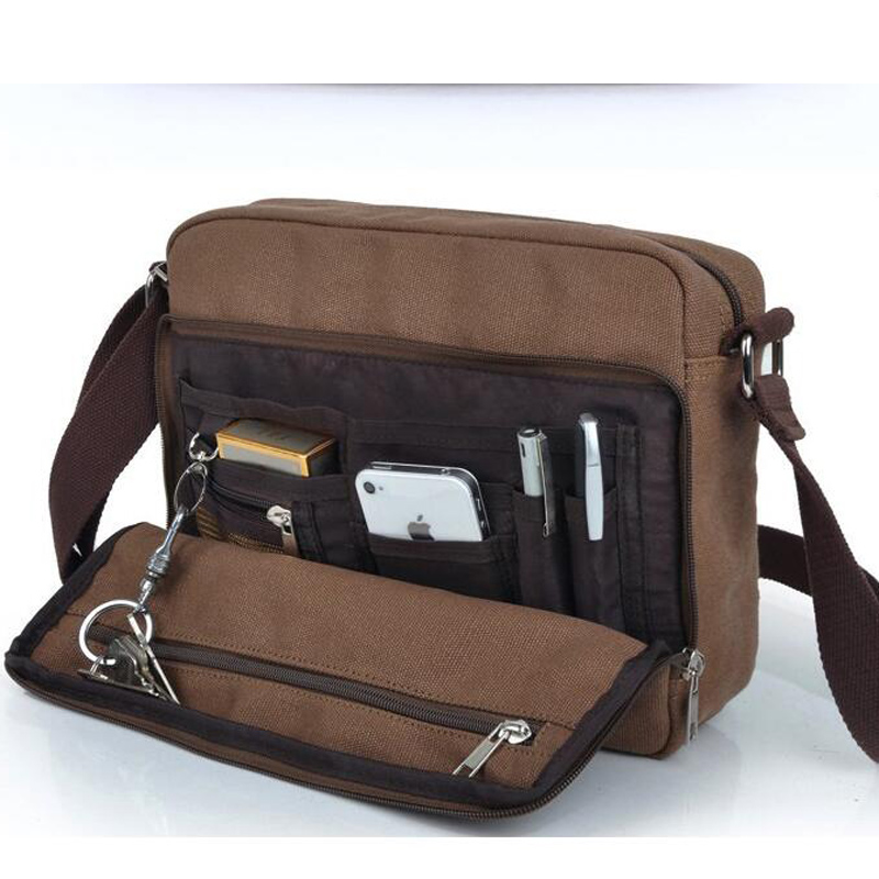 цены  hot Quality Multifunction Men Canvas Bag Casual Travel Bolsa Masculina Crossbody bag men Shoulder Bag Men Messenger Bags