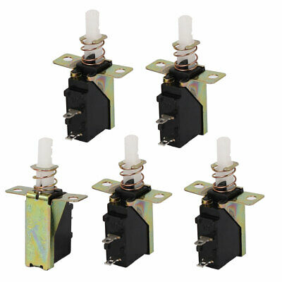5PCS SPST 2P Spring Loaded Self Locking Micro Power Push Button Switch