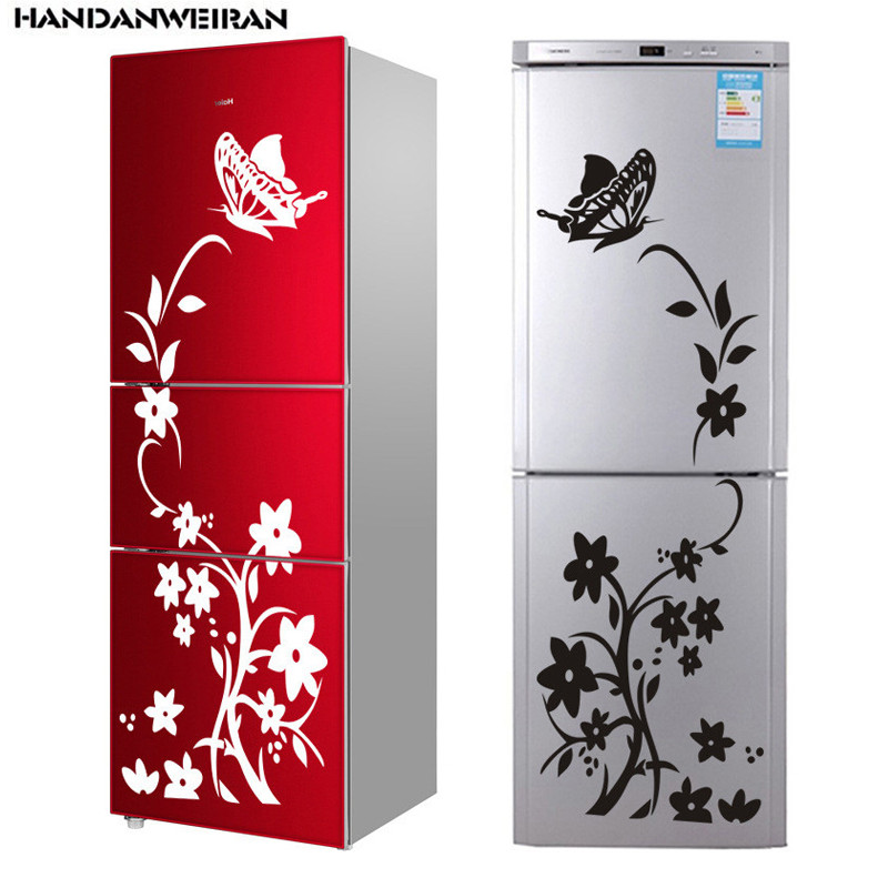 Hot hot foreign trade butterfly flower vine refrigerator stickers paper generation carving can be removed