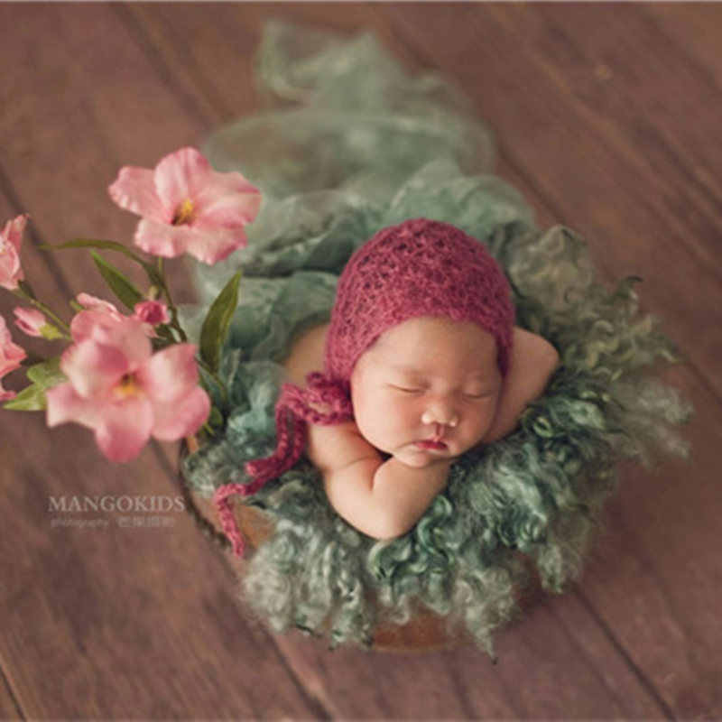 Newborn mohair hat photography props,baby Angola MOHAIR beanie