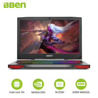Bben G17 Gaming Laptop Computers NVIDIA GTX1060 Intel I7 7700HQ 7th Gen Kabylake 17 3inch Pro