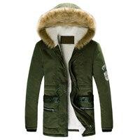Лидер продаж; мужские зимние пальто с мехом с капюшоном и воротником повседневные камуфляжные Куртки пальто Верхняя одежда Азиатские разме...