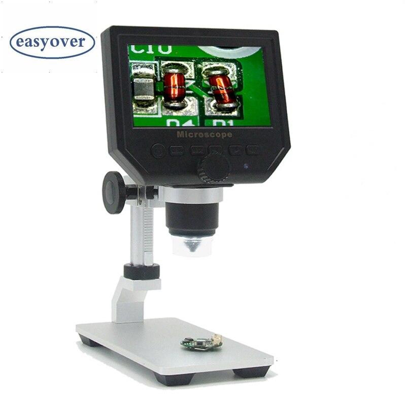 600X Digital Microscope 3 6MP HD Mobile Phone Electronic Video Microscope Camera Pcb Soldering Repair Magnifier