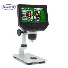 600X цифровой микроскоп 3.6MP HD Мобильный телефон электронный видео микроскоп камера Pcb Пайка Ремонт лупа Al-alloy Stent