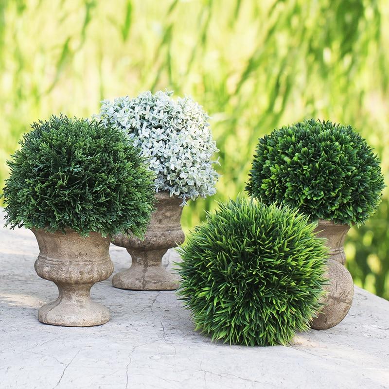 인공 분재 녹색 펄프 녹색 식물 꽃 장식 실내 꽃 홈 - 휴일 파티 용품