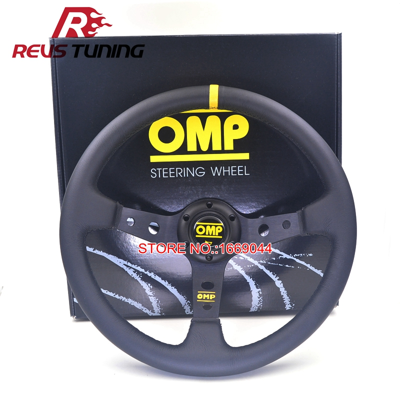 350mm 14 Deep Dish Car Racing Sport OMP Steering Wheel