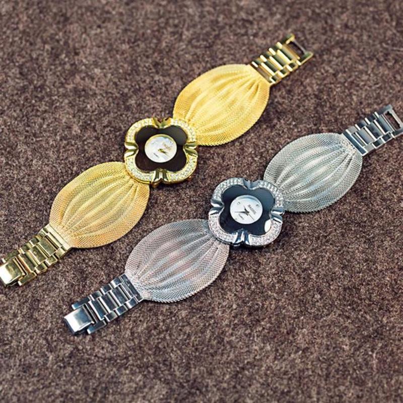 Lady Diamond Bracelet Watch Mirror Luxury Quartz Watc
