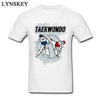Cool Design T-Shirt Taekwondo Testa di Scossa Del Fumetto di Stampa In Puro Cotone Da Uomo Abbigliamento Top Tees All'ingrosso