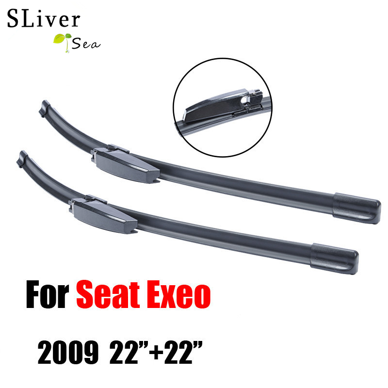 SLIVERYSEA Wiper Blades For Seat Exeo 2009-2016 High Quality Rubber Windshield Car Accessories