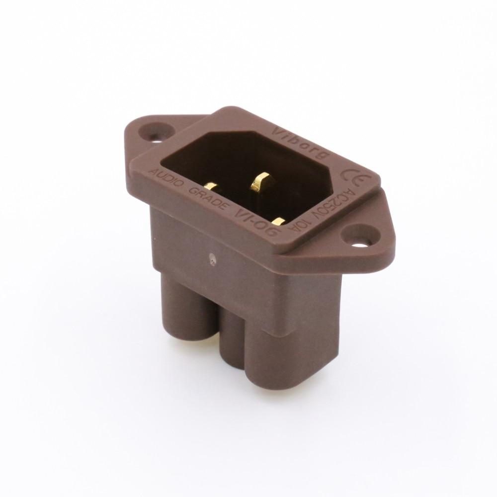 Красное медное позолоченное IEC AC входное гнездо уровня звука без припоя AC входное гнездо питания
