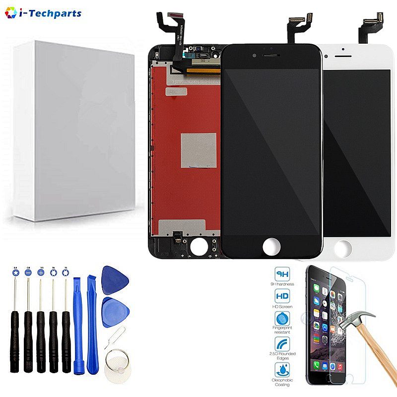 Best Quality For iPhone 6S LCD Display + Touch Digitizer Screen Assembly with Frame for iPhone 6 4.7inch,Black White image