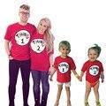 Nueva Familia thing2 thing1 Trajes A Juego de manga corta T-shirt Familia Mirada de padre E Hijo de madre e hija de ropa bebés y niños