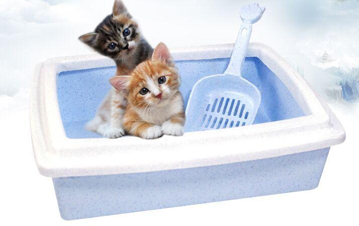 Полузакрытый бассейна кошачьих туалетов домашних животных кошачий Туалет подходит для небольших кошки Размеры: 40*31*11 см