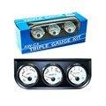 Nueva 2''52MM Triple gauge 3in1 (Voltímetro + temp gauge Medidor de presión de Aceite + agua) Sensor de temperatura Tensión/agua temperatura AutoGauge/Car Medidor