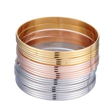 New Year Gifts 7PCs Stainless Steel Bangles Wide Wire Cuff Bracelets Bangles For Wonder Women Men Fashion Jewelry Bijoux Femme(China)