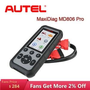 Image 1 - Autel MaxiDiag MD806 Pro OBD2 Car Automotive Diagnostic Tool Code Reader OBD 2 Auto Scanner Full System Diagnoses Car Scanner