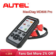 Autel MaxiDiag MD806 Pro OBD2, herramienta de diagnóstico automotriz para coche, lector de código OBD 2, escáner automático, diagnósticos de sistema completo para coche