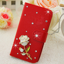 Case for Huawei Y6 Pro Bling bling Rhinestone Blue butterfly PU leather Case for Huawei honor 4C Pro Y6 Pro Mobile phone bags