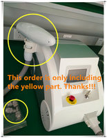 Q switched nd yag laser handle / handpiece for tattoo / eyeliner and eyebrow removal