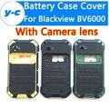 Caso de alta qualidade caixa de bateria + lentes da câmera blackview bv6000 acessório repair parte da tampa da bateria do telefone para bv6000s blackview