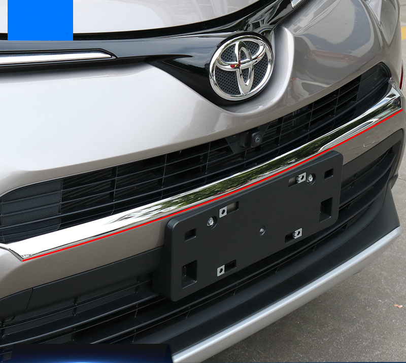 1pc/set ABS Chrome Front Grill Grille Trim Garnish Bumper Protector Car styling Fit For Toyota RAV4 RAV 4 2016 Accessories