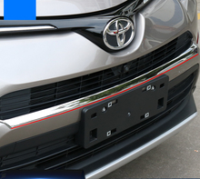 цена на 1pc/set ABS Chrome Front Grill Grille Trim Garnish Bumper Protector Car styling Fit For Toyota RAV4 RAV 4 2016 Accessories