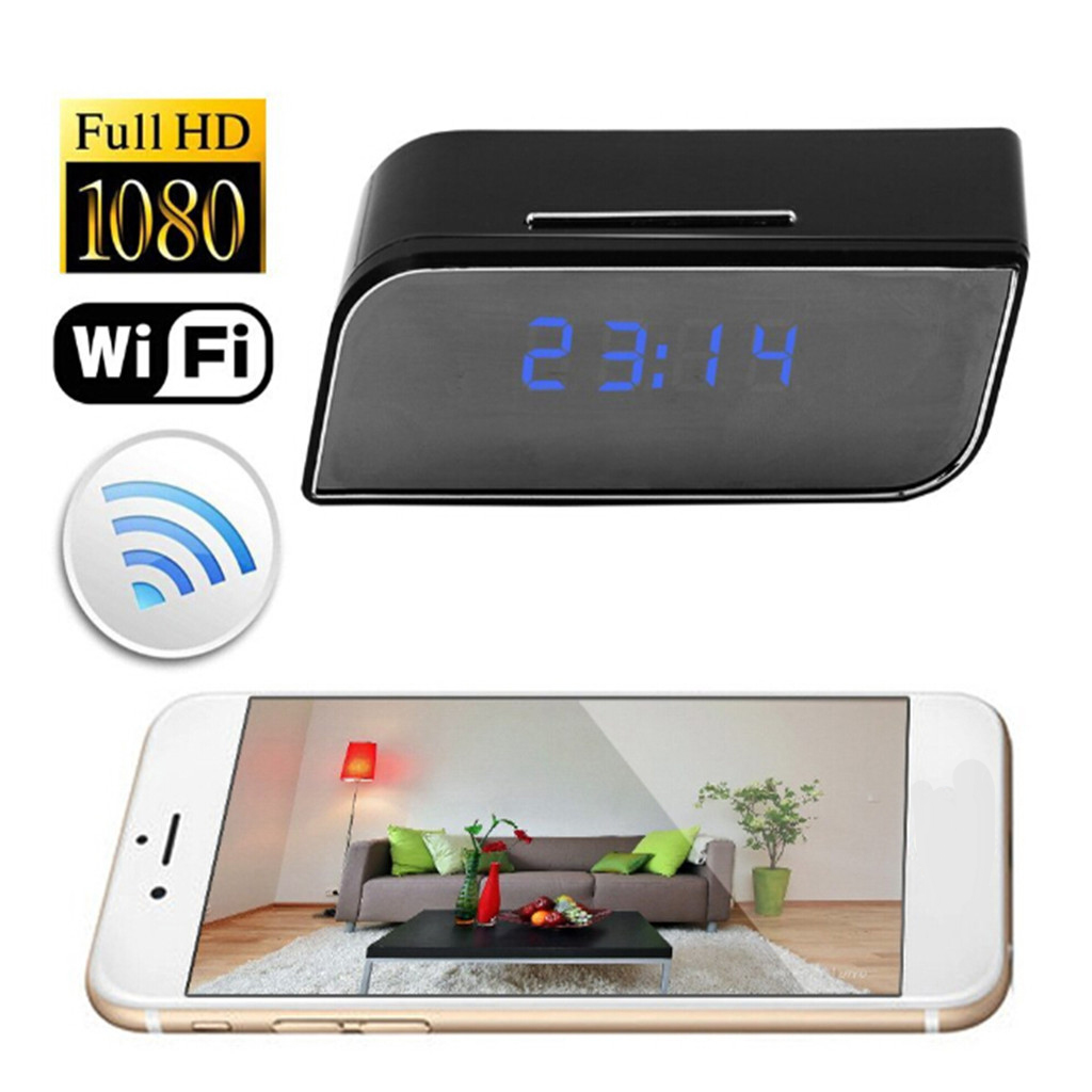 Wireless Wifi Alarm Clock Camera Motion Detection Security Nanny Cam Babysitter Cameras