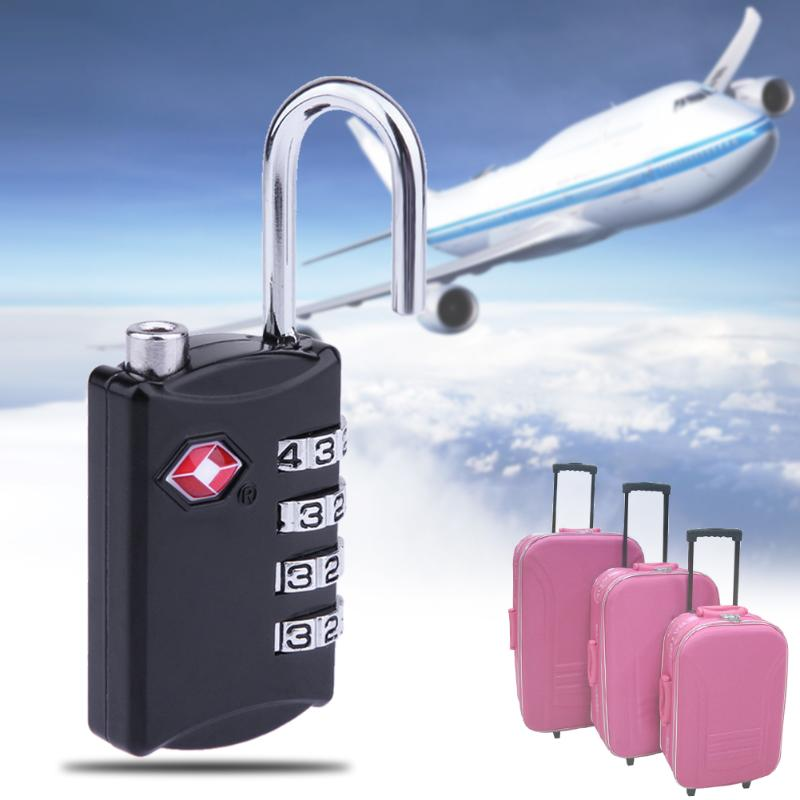 Zinc Alloy 4 Digit Luggage Hanging Lock Combination Travel Suitcase Bag Security Coded Lock Padlock Customs Safe Lock