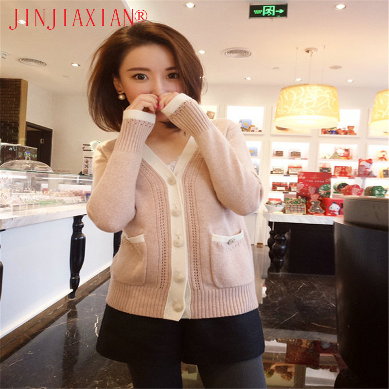 2018 New cashmere sweater cardigan spring and autumn sweater sweater outside ride V-neck cardigan knit cardigan shirt blouse 328