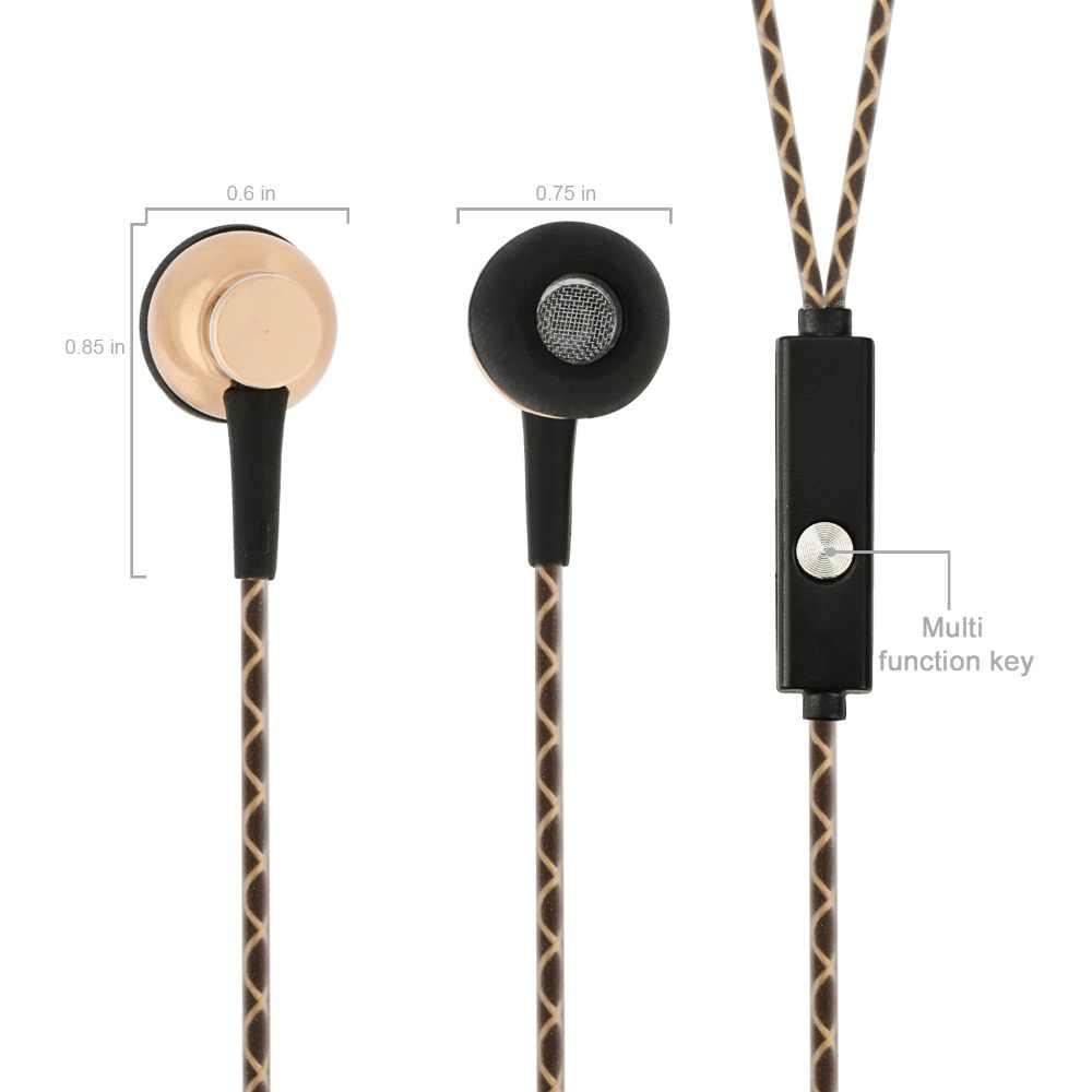 מעטפת אלומיניום אוזניות עם מיקרופון אוזניות לספק קול אודיו סטריאו עם בס חזק באיכות גבוהה עבור טלפון חכם, Mac