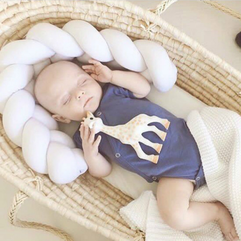 Baby Bed Bumper Knot Newborn Crib Pad Protection Cot Bumpers Children Kid Gift Toddler Infant Doll Pillow Room Decor