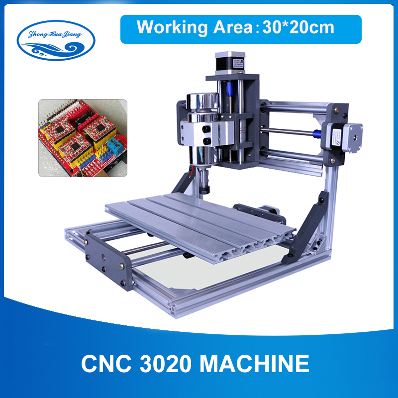 300w  CNC 3020 Laser Engraving Machine ,work Area :30*20cm,GRBL Control Driver Board DIY Wood Router PCB Milling Machine
