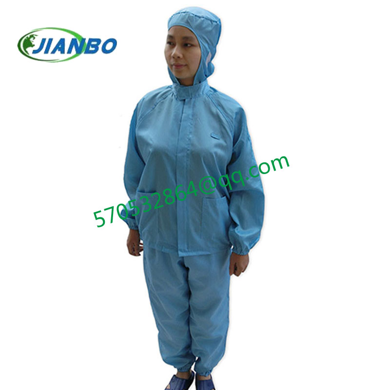 The anti-electrostatic protection has no dust zipper cleanness decontamination car connect hat cent the body take suit